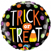 "Halloween Foil Balloon - Trick or Treat Dots (18"") 1pc"
